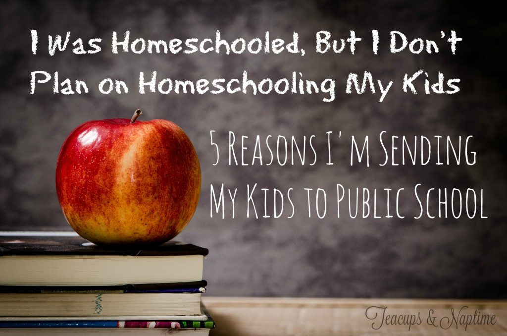 i don't plan on homeschooling my kids