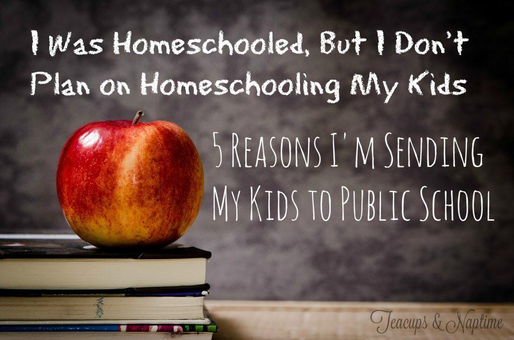 i don't plan on homeschooling my kids